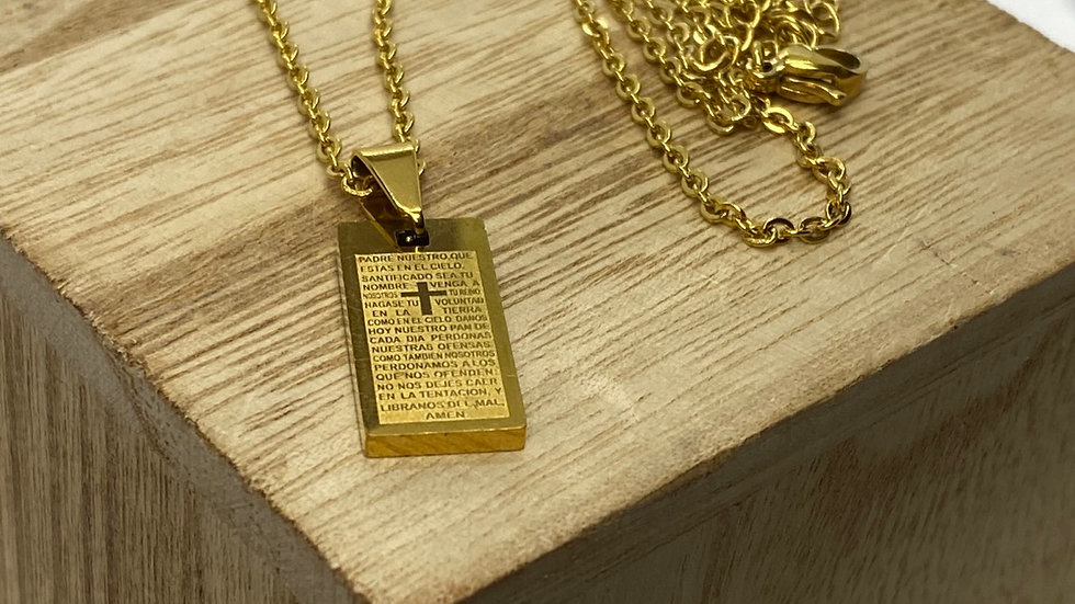 Stainless Steel necklace, gold color