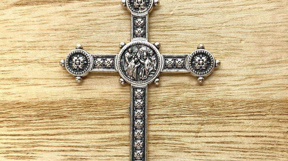 Cross ferula  40, papal ferula, Italian metal