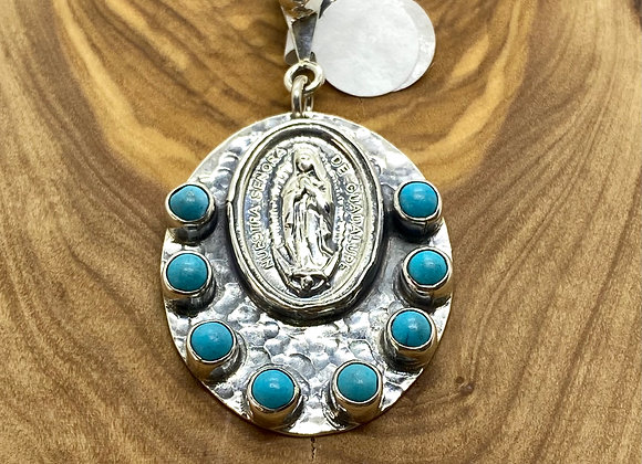 OL Guadalupe Sterling Silver medal