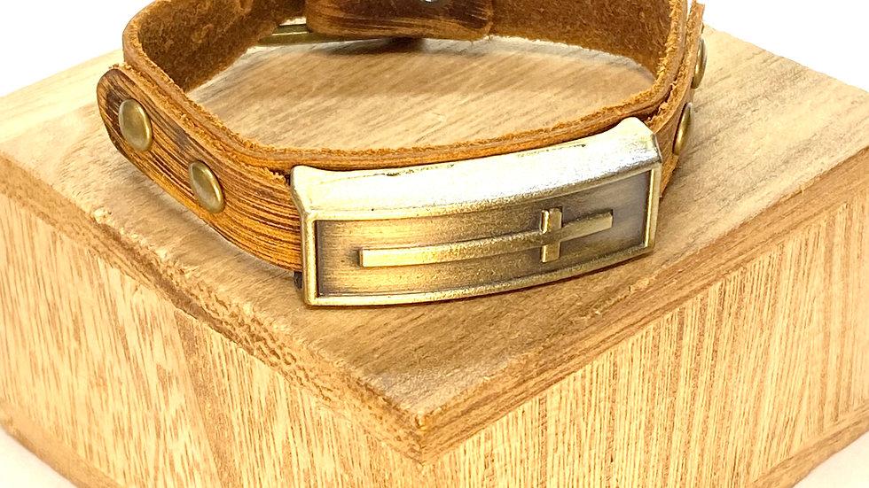 Bracelet with a cross.