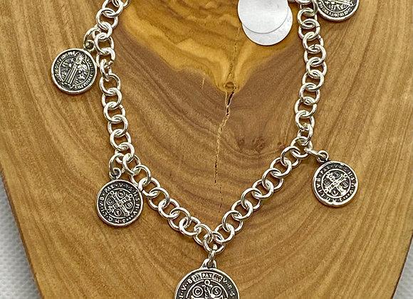 Saint Benedict Bracelet Sterling Silver