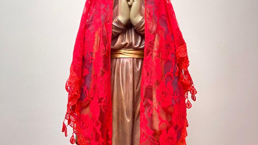 Veil, triangle lace Mantilla