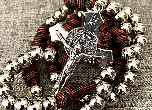 Rosary Rugged Paracord Red and black cord
