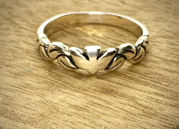 Sterling Silver Ring Dove
