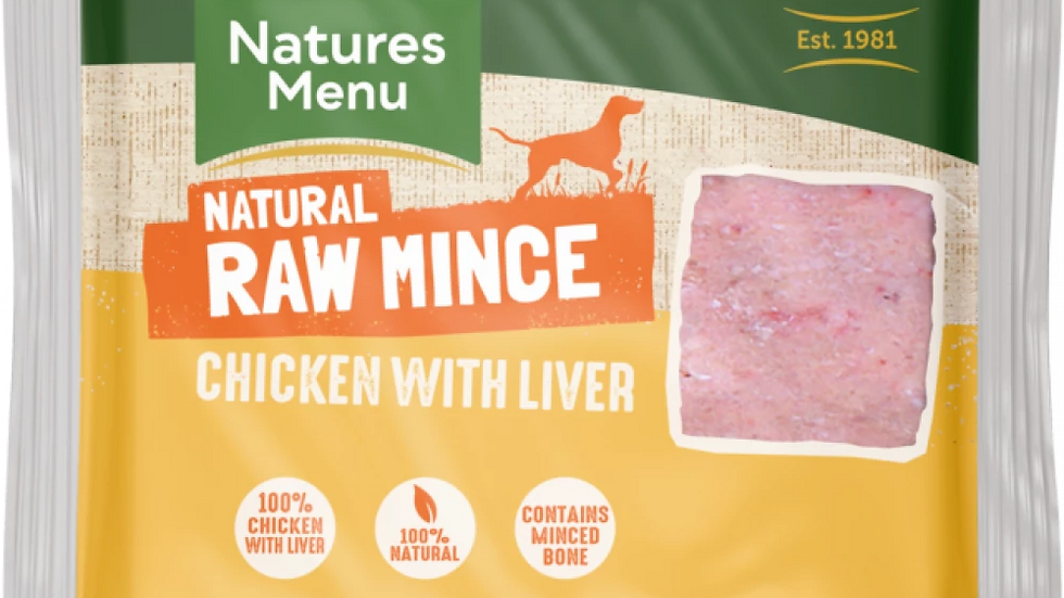Just Chicken with Liver Raw Mince