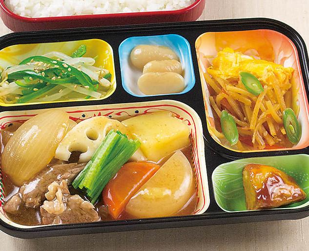 牛肉と根菜のすきやき風・大学芋 他