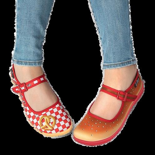 Chocolaticas® Pretzel Women's Mary Jane Flat Shoes