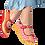 Thumbnail: Chocolaticas® Pretzel Women's Mary Jane Flat Shoes