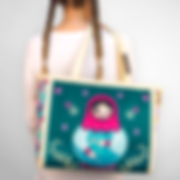 Tote bag Russian doll girl.png