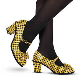 chocolaticas mid heel Tooth_Hound_Yellow