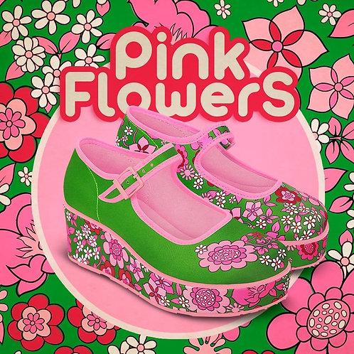 Chocolaticas pink flowers wedges