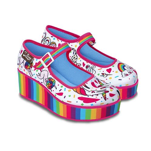 Chocolaticas Rainbow platforms