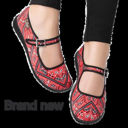 Chocolaticas® Bandana Women's Mary Jane Flat Shoes