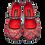 Thumbnail: Chocolaticas® Bandana Women's Mary Jane Flat Shoes
