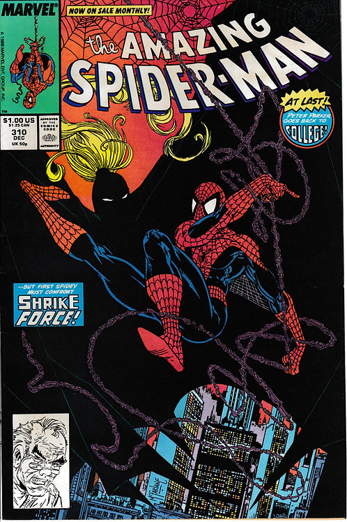 AMAZING SPIDER-MAN 310 Dec 88 Very Fine Killer Shrike Appearance