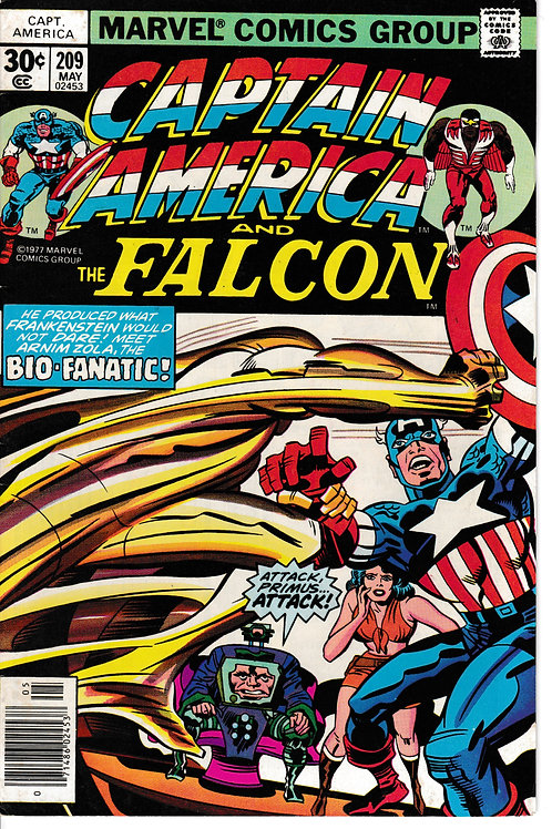 CAPTAIN AMERICA 209 May 77 Sharon Carter returns to SHIELD