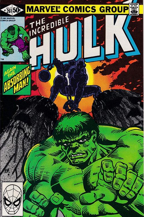 Incredible Hulk 261 Absorbing Man & Avengers