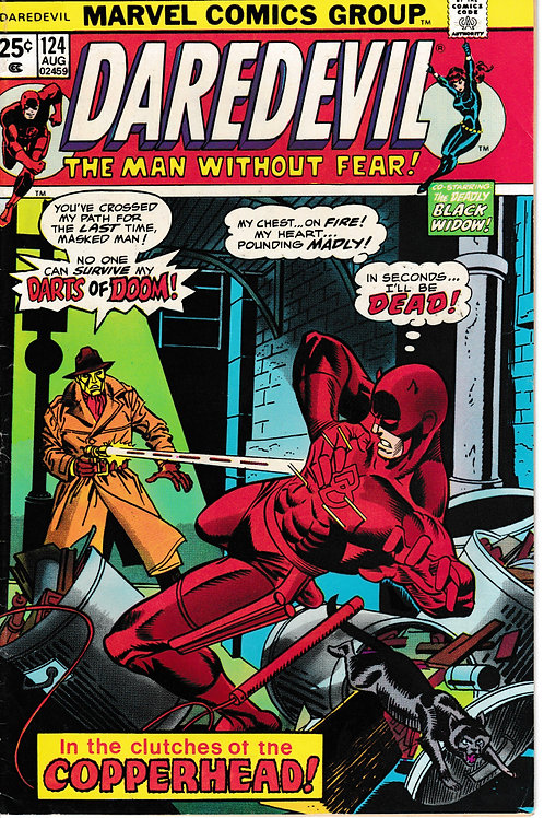DAREDEVIL 124 Aug 75 First appearance of the Copperhead