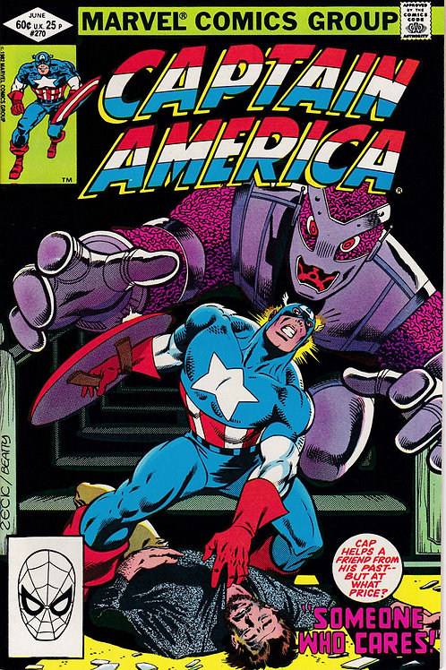 Captain America 270 Arnie Roth asks a favour