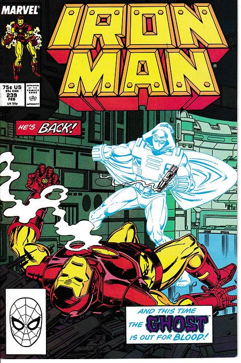 IRON MAN 239 Feb 89 Verses Justin Hammer