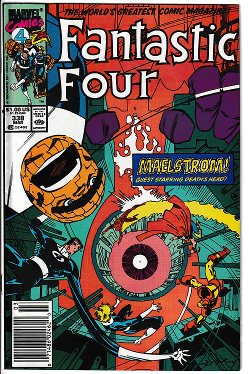 FANTASTIC FOUR 338 Mar 90 Iron Man & Thor guests
