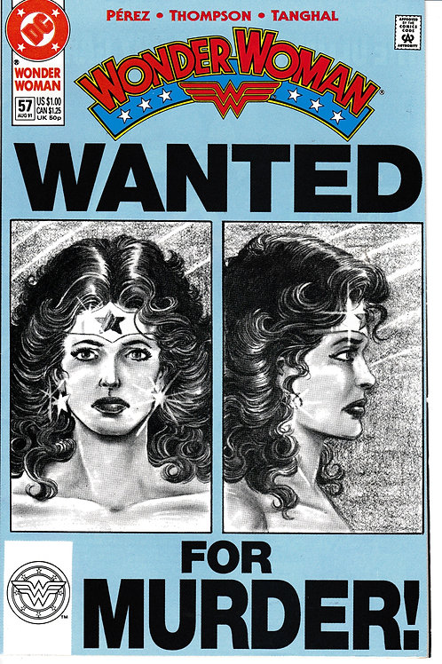 WONDER WOMAN 57 Aug 91 DC 2nd Series The Fugitive Kind Part 2 of 6