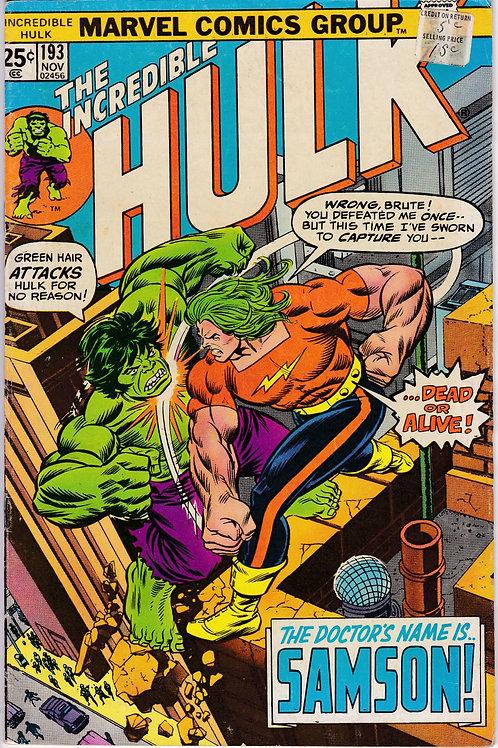 Incredible Hulk 193 Verses Doc Samson