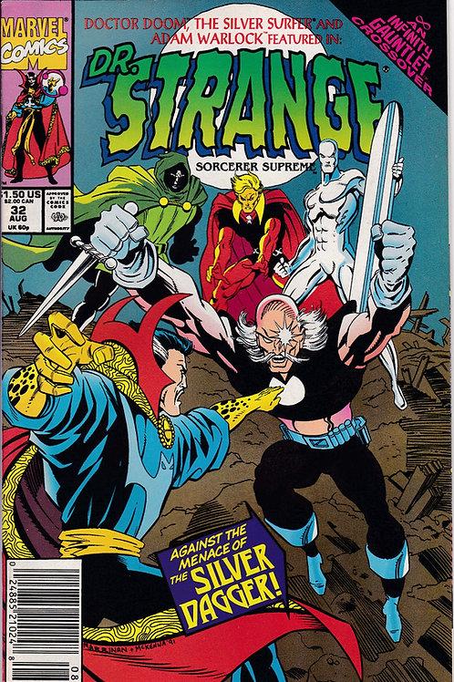 DOCTOR STRANGE SORCERER SUPREME 32 Marvel Aug 91 Infinity Gauntlet X-Over
