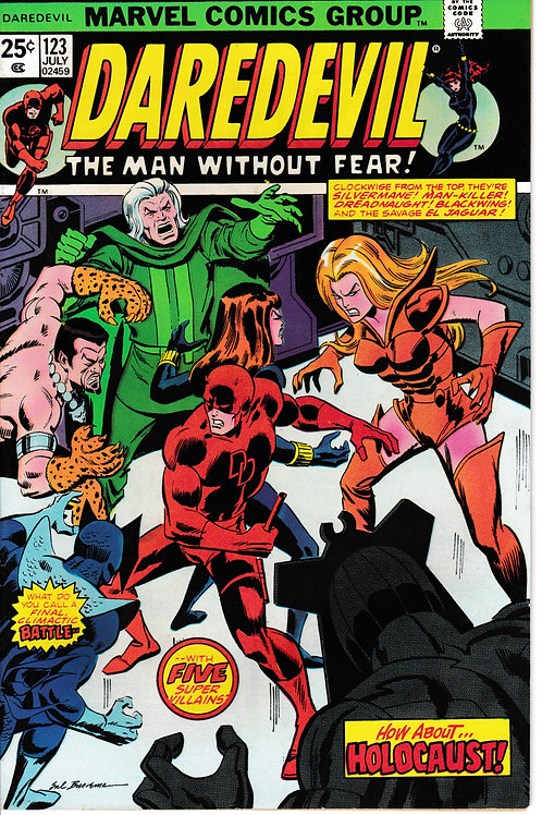 DAREDEVIL 123 Jul 75 Holocaust In the Halls of HYDRA