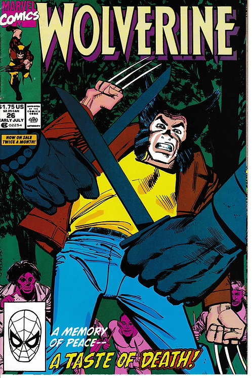 WOLVERINE 26 Marvel Jul 90 Includes Todd McFarlane pin-up