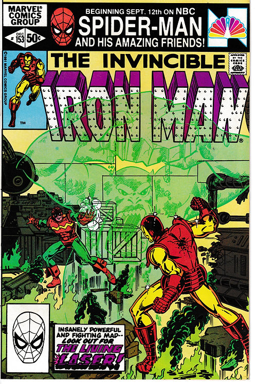 IRON MAN 153 Dec 81 Living Laser Appearance