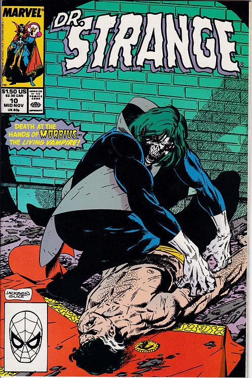 DOCTOR STRANGE SORCERER SUPREME 10 Marvel Nov 89 Guest-starring Morbius