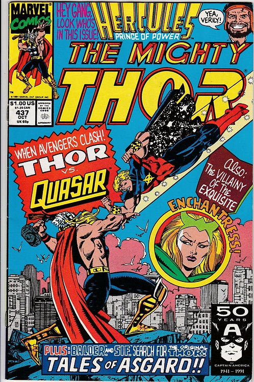 THOR 437 Oct 91 App Quasar Tales of Asgard