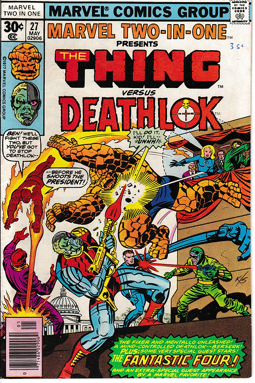 MARVVEL TWO-IN-ONE 27 THE THING VS Deathlok