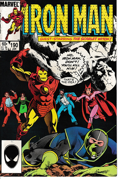 IRON MAN 190 Jan 85 Guest-stars the Scarlet Witch