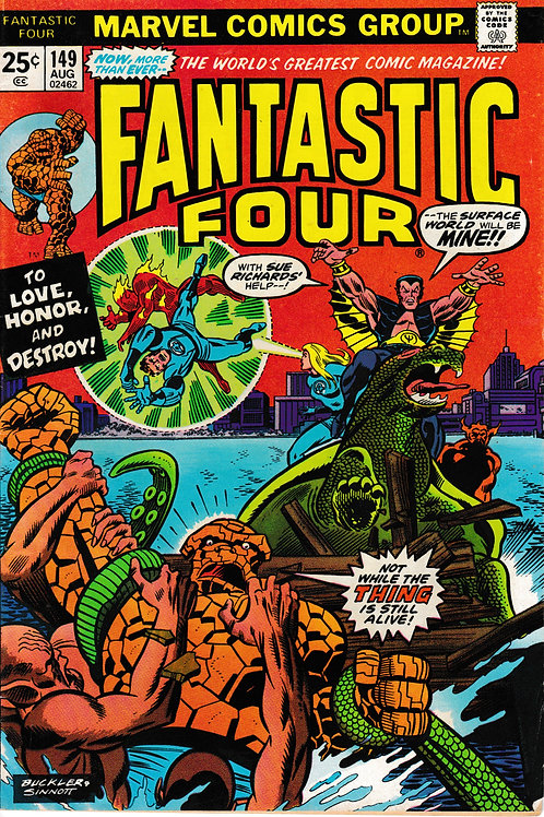 FANTASTIC FOUR 149 Aug 74 Marvel Sub Mariner Appearance