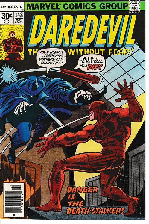 DAREDEVIL 148 Oct 76 Death Stalker Appearance