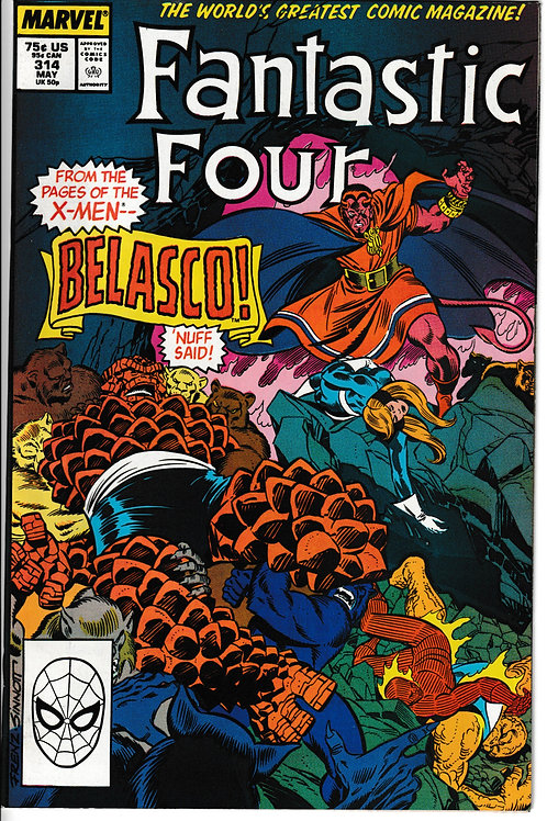 FANTASTIC FOUR 314 May 88 New Old Stock Never Read Belasco Appearance