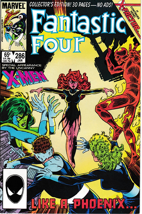 FANTASTIC FOUR 286 Jan 86 2nd Appearance X-Factor