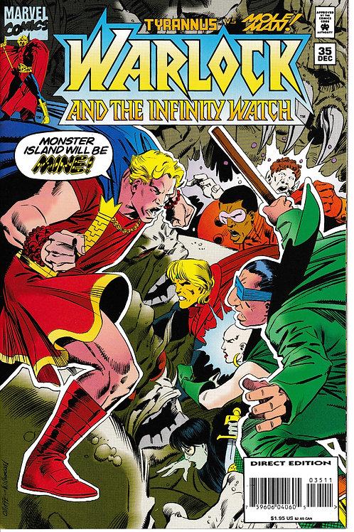WARLOCK AND THE INFINITY WATCH 35 Marvel Dec 94 Mole Man Tyrannus Appearance