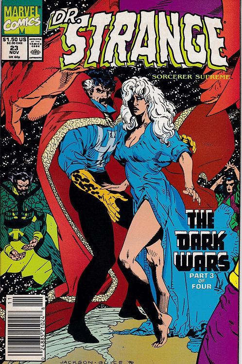 DOCTOR STRANGE SORCERER SUPREME 23 Marvel Nov 90 Dark Wars Pt 3