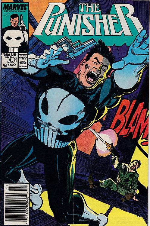 PUNISHER 4 Vol 2 Nov 87 Marvel Fine+ 1st Appearance Microchip