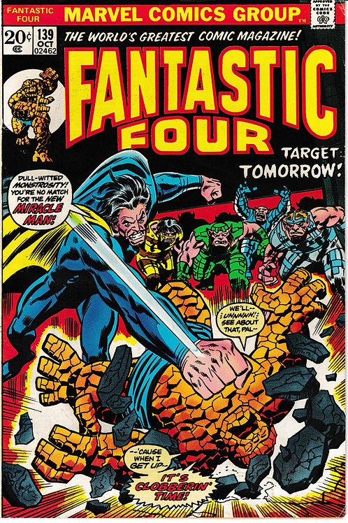 FANTASTIC FOUR 139 Oct 73 Marvel Vol 1 Verses Miracle Man