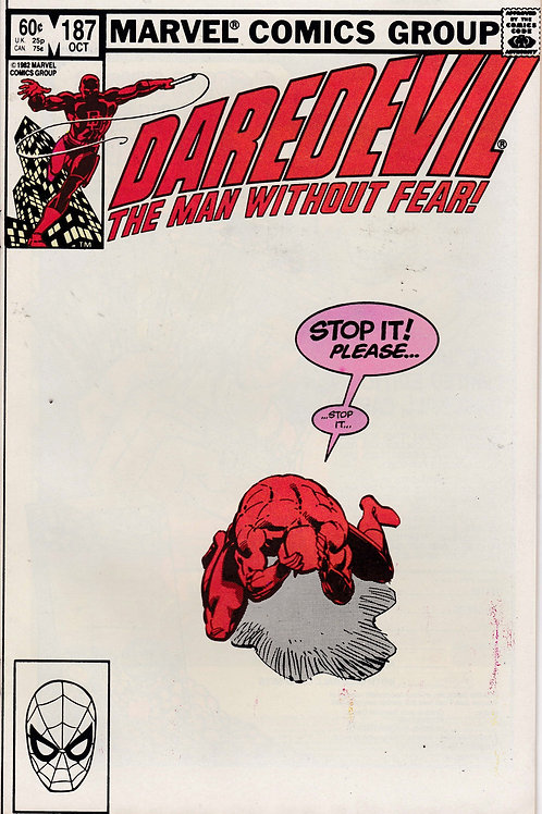 DAREDEVIL 187 Oct 82 New Black Widow Verses the Hand