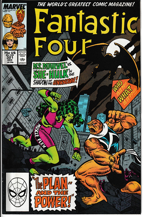 FANTASTIC FOUR 321 Dec 88 New Old Stock Never Read Guest Stars She Hulk
