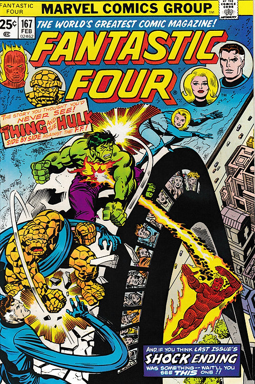 FANTASTIC FOUR 167 Feb 76 Marvel Vol 1 Guest-starring the Hulk