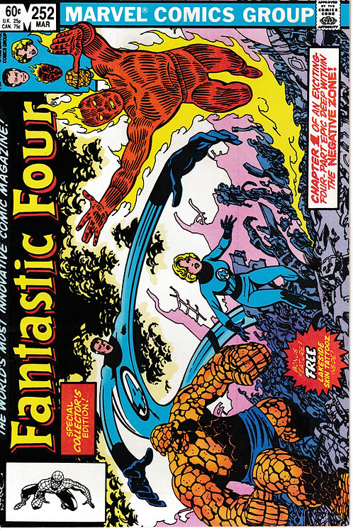 FANTASTIC FOUR 252 Mar 83 Story & Art John Byrne Special Widescreen Issue