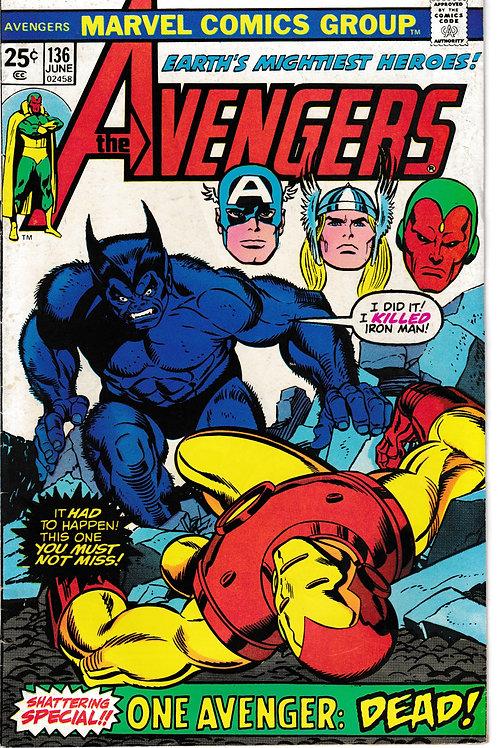 Avengers 136 Iron Man DOA