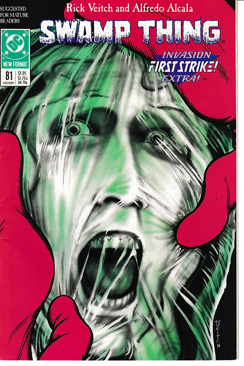 SWAMP THING 81 DC Jan 89  Invasion Extra First Strike