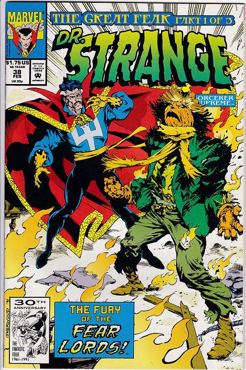 DOCTOR STRANGE SORCERER SUPREME 38 Marvel Feb 92 Great Fear Pt 1